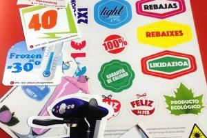 Imprenta GrafiCar - etiquetas-adhesivas barcelona - Etiquetas troqueladas en bobina barcelona