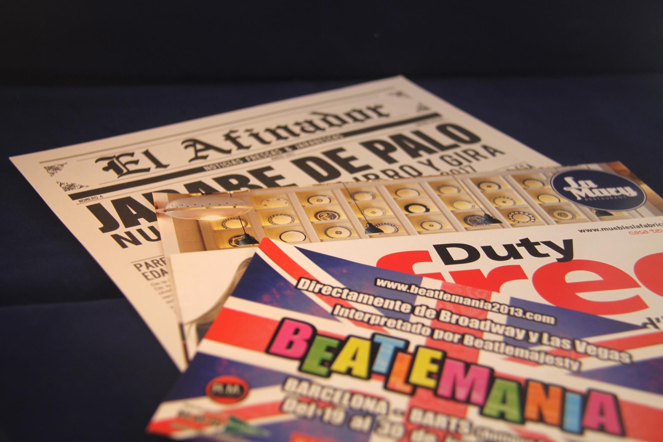 Imprenta GrafiCar - flyers en barcelona - folletos en Barcelona- desplegables en Barcelona